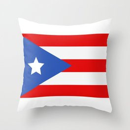 flag puerto rico Throw Pillow