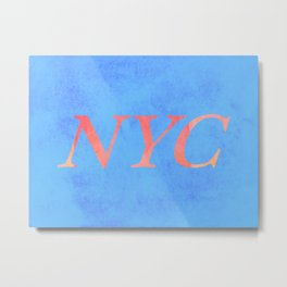 New York Print Metal Print