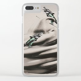 Ski ice cream Clear iPhone Case