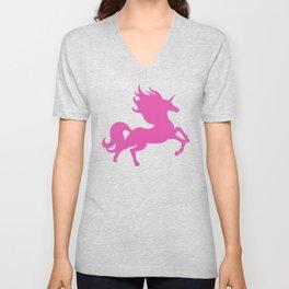Visible Invisible Pink Unicorn Unisex V-Neck