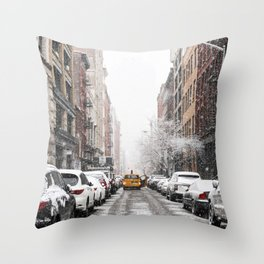 SoHo Snow Throw Pillow