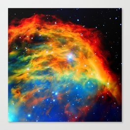Rainbow Medusa Nebula Canvas Print