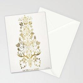 La Vie & La Mort – Gold Palette Stationery Cards