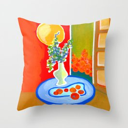 oranges in the afternoon ... Throw Pillow