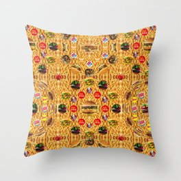 ALL YOU CAN EAT WALLPAPER 1 Throw Pillow