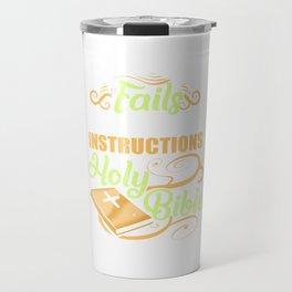 Follow Instructions Holy Bible Travel Mug