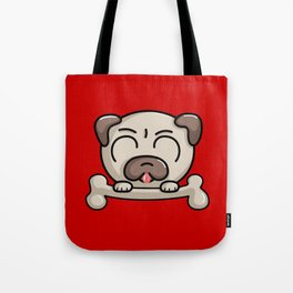 Kawaii Cute Pug Dog Tote Bag