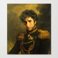 replaceface Canvas Prints featuring Bob Dylan - replaceface by replaceface