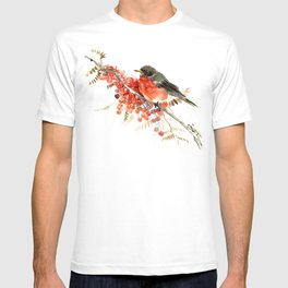American Robin and Berries T-shirt