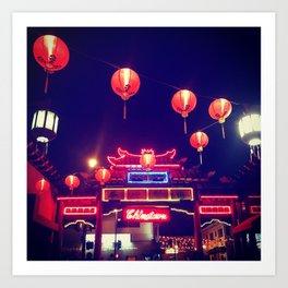 Down to Chinatown Art Print