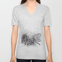Sound of Longing (Intuitive Sound Scribble #3) Unisex V-Neck