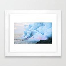 Pastel volcano smoke Framed Art Print