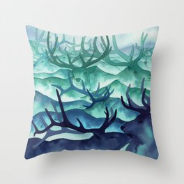 Herding Mountains Throw Pillow