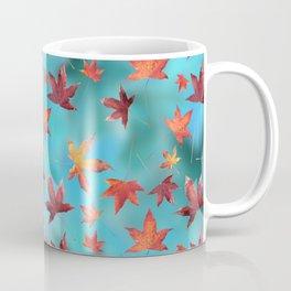 Dead Leaves over Cyan Coffee Mug