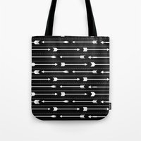 arrows Tote Bags featuring Arrows by Hipster