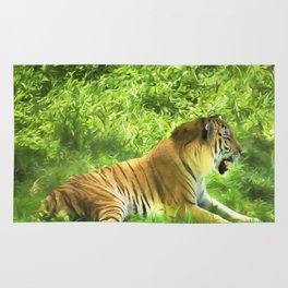 Tiger In Forest Rug