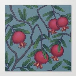 Pomegranate Pattern Canvas Print