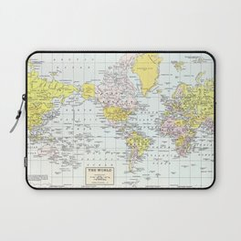 Vintage World Map Laptop Sleeve