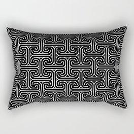 Art-Deco Black& Gray Geometric Pattern Rectangular Pillow