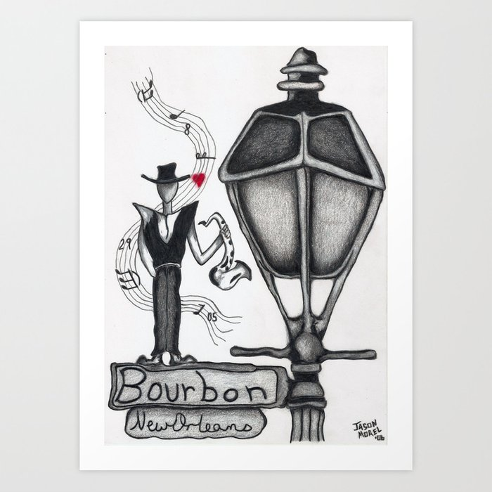 Hurricane Katrina Man Lamppost New Orleans Art Art Print By Littleenithandsons