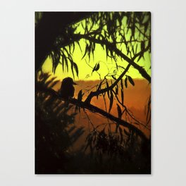 Kookaburra Silhouette Sunset Canvas Print