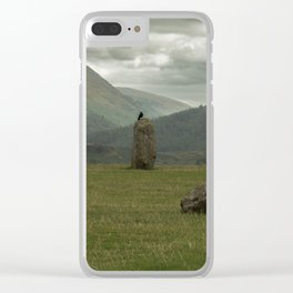 Circle of the Black Raven Clear iPhone Case