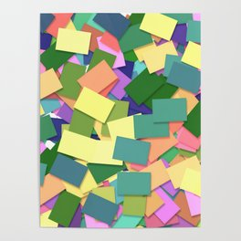 Abstract Cards Poster