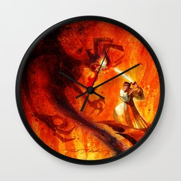 Samurai Jack VS Aku Wall Clock