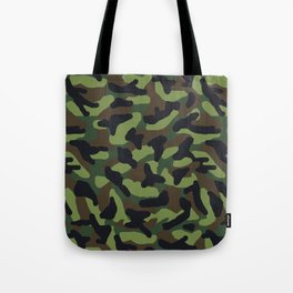 Green Camo Camouflage  Tote Bag