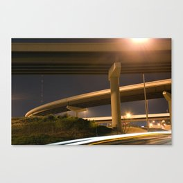 White and Yellow Lights Canvas Print