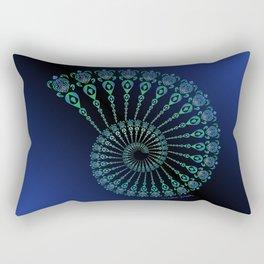 Spiral Tribal Turtle Shell Rectangular Pillow