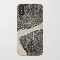 liverpool iPhone & iPod Cases featuring liverpool map ink lines by Les petites illustrations