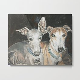 Cuddly Canines Metal Print