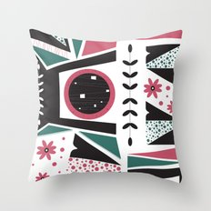 Fresh Mojo Mid-Century Modern Contemporay Design Throw Pillow