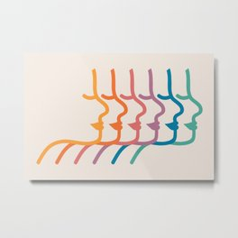 Boca Silhouettes Metal Print