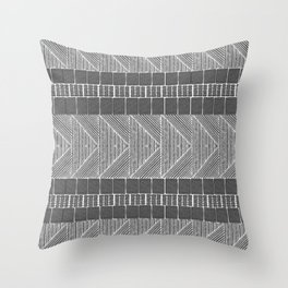 Black and White Line Art Throw Pillow