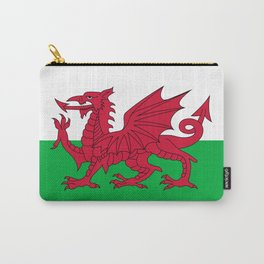 Flag of Wales - Hi Quality Authentic version Carry-All Pouch