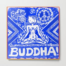 Buddha Kitty Metal Print
