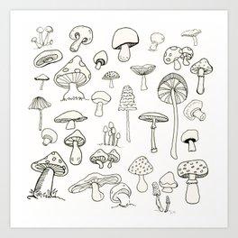 Simply Mushrooms Art Print
