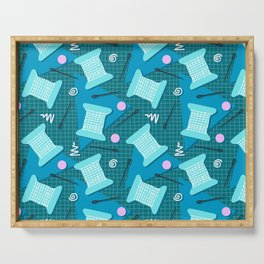 Memphis Sewing in Blue Serving Tray