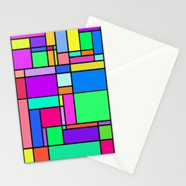 colorful geometric square vectors Stationery Cards