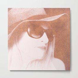 San with Sunglasses Metal Print
