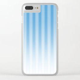 Gradient Stripes Pattern wb Clear iPhone Case