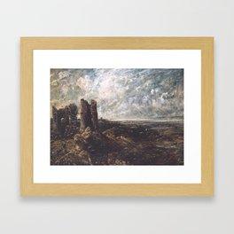 John Constable 1776–1837   Sketch for 'Hadleigh Castle' Framed Art Print