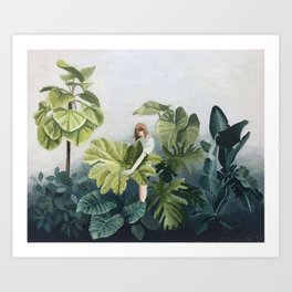 Green botanical Art Print