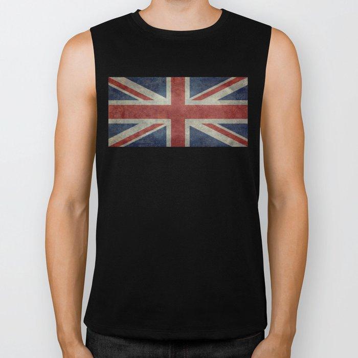 England's Union Jack flag of the United Kingdom - Vintage 1:2 scale version Biker Tank