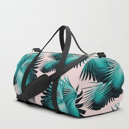 Fan Palm Leaves Paradise #4 #tropical #decor #art #society6 Duffle Bag