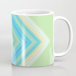 Diamond Pattern Green teal Coffee Mug