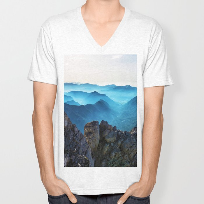 Mountains Breathe Too Unisex V-Neck