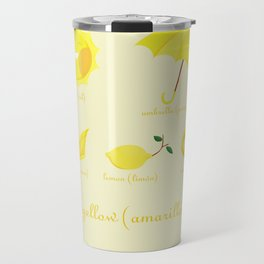 Colors: yellow (Los colores: amarillo) Travel Mug